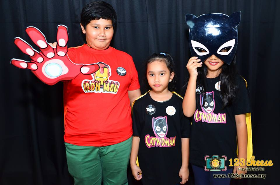 Iron Man and Cat Woman came to the party of Batman.