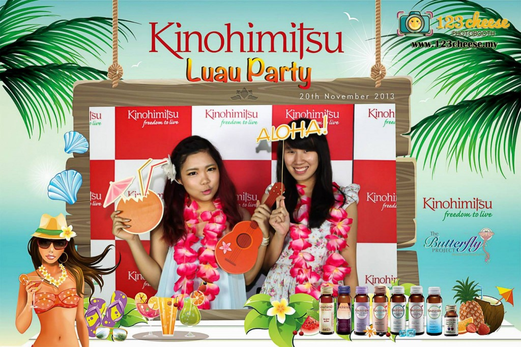 The Butterfly Project - Beauty Bloggers and Kinohimitsu awesome hawaii style party