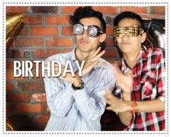 birthday photo booth - layout