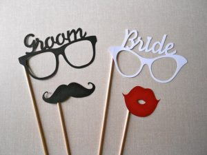 Diy wedding props for wedding photo booth this prop can help liven up the photographs season imaging when your mother in law wearing a big mustache and playing small guitars with an afro hair solutioingenieria Image collections