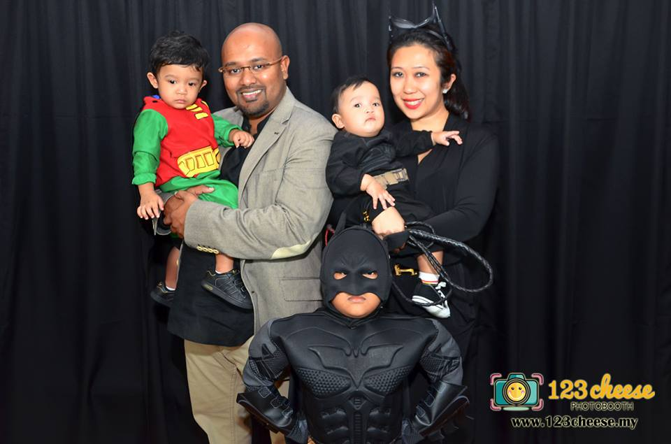 Little Batman with his family!