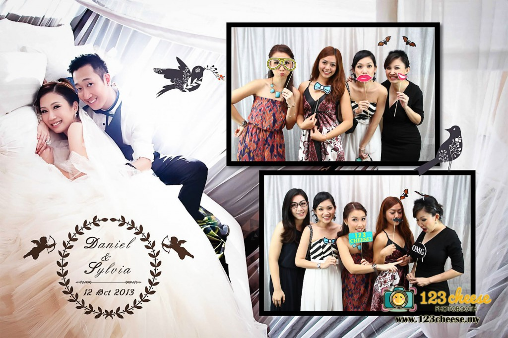 Wedding Photo Booth With Customised Props Photo Layout