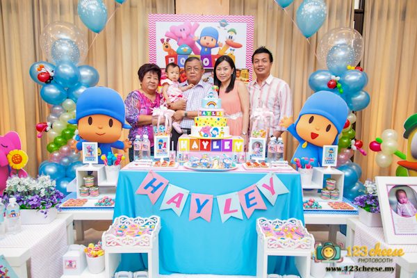 Babys One Year Old Birthday Celebration Pocoyo Theme