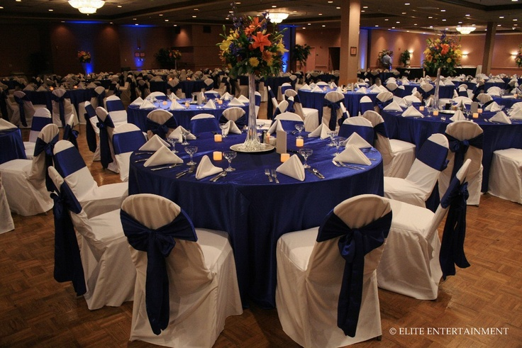 Royal Blue Reception Decor