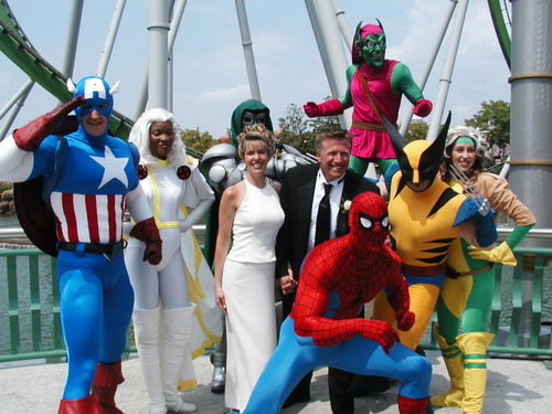 Marvel Comic Characters Themed Wedding