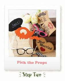 Wedding Photo Booth - Take Your Props